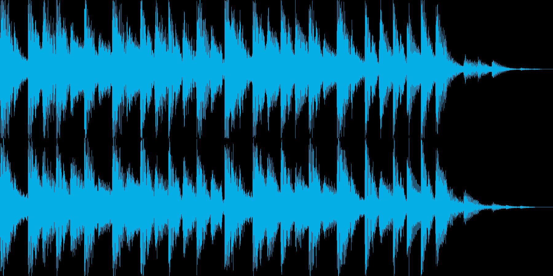 かわいい爽やかなオープニングBGM2の再生済みの波形