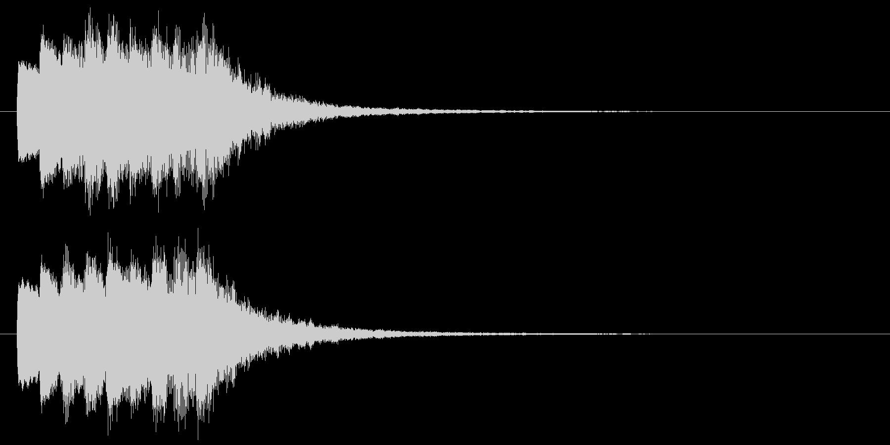 古いパソコンの終了音風ジングル1の未再生の波形