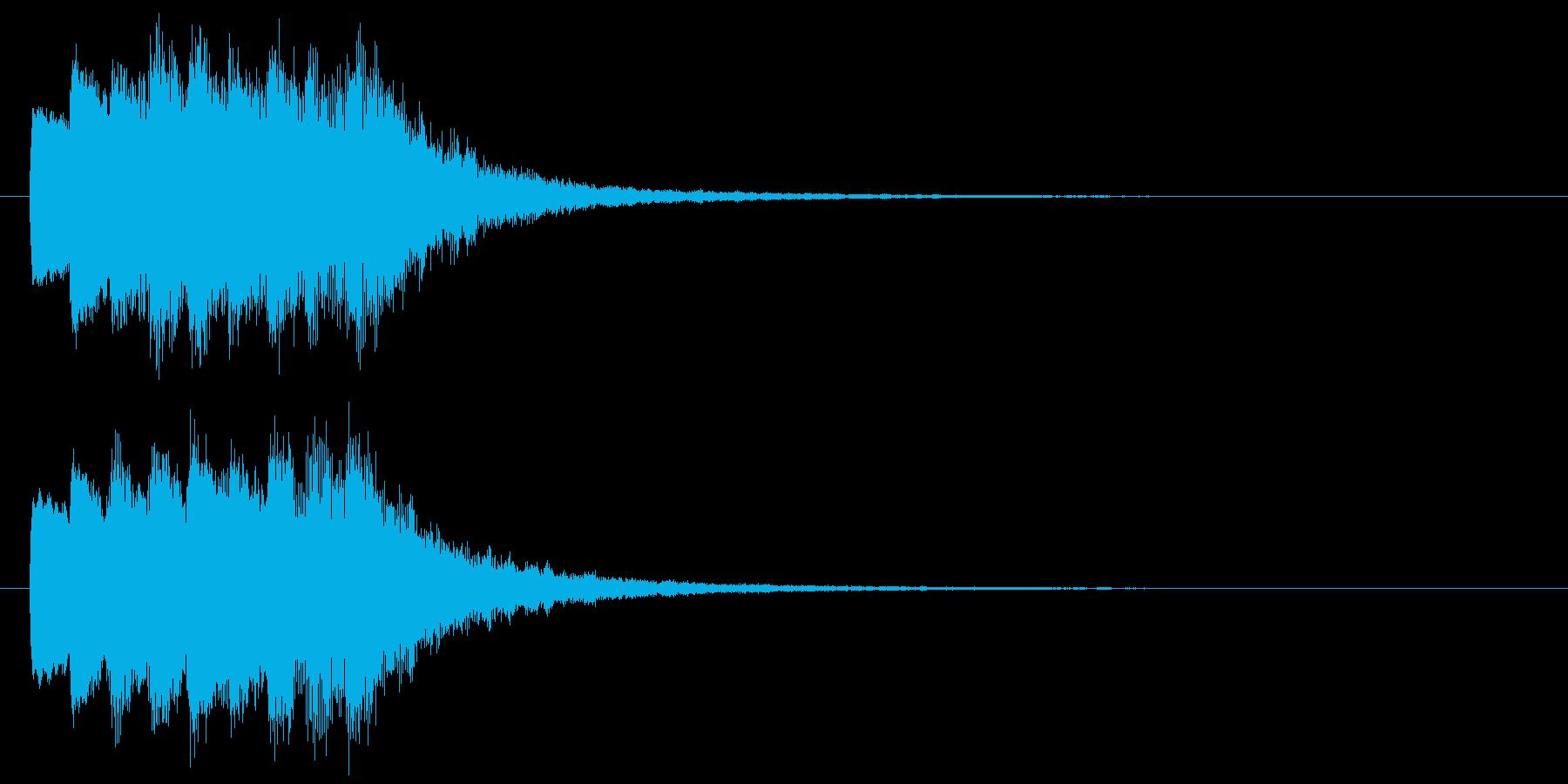 古いパソコンの終了音風ジングル1の再生済みの波形