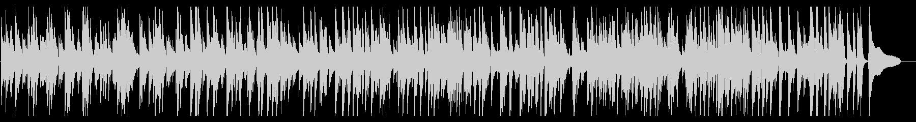 大人の楽しげなjazz風ピアノの未再生の波形
