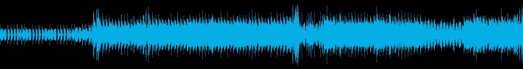 迷い、走り続けているイメージEDMその2の再生済みの波形
