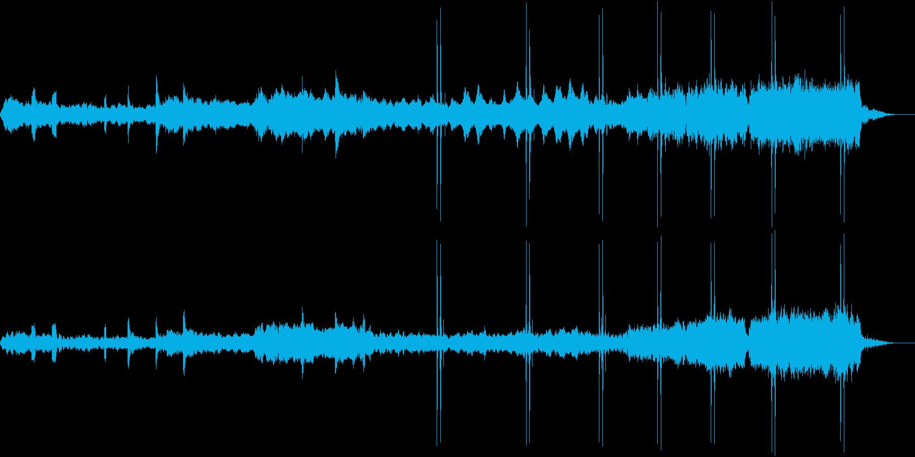 映画ブレードランナー風ダークなBGMの再生済みの波形