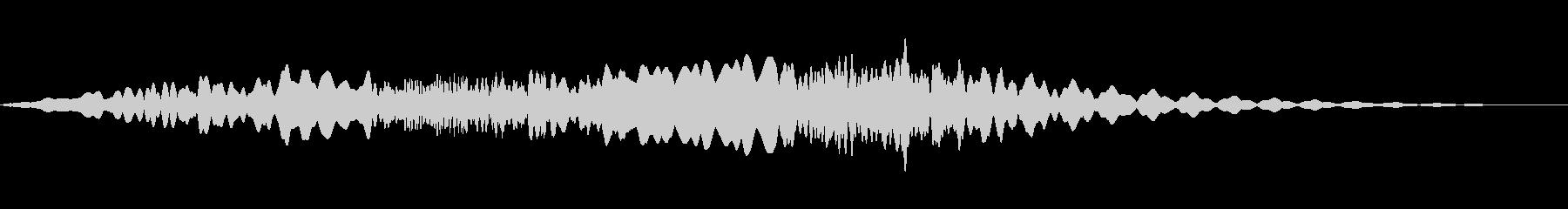 幽霊のようなハウリング音はリバーブ...の未再生の波形