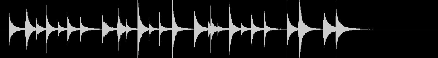 松虫14キラキラ鉄琴アジアン和風歌舞伎鳴の未再生の波形
