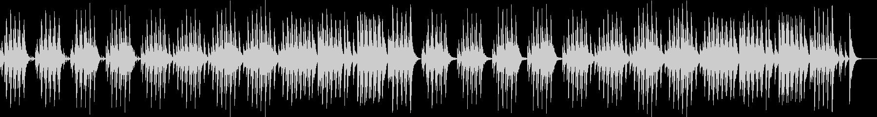 ほのぼの可愛い木琴の未再生の波形