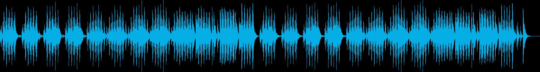 ほのぼの可愛い木琴の再生済みの波形