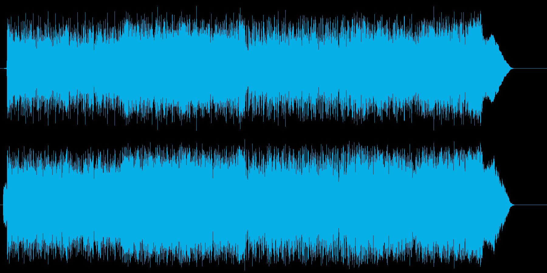 力強い スピード スリル 激しい 躍動の再生済みの波形