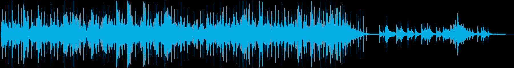 疾走感のあるヒップホップジャズの再生済みの波形