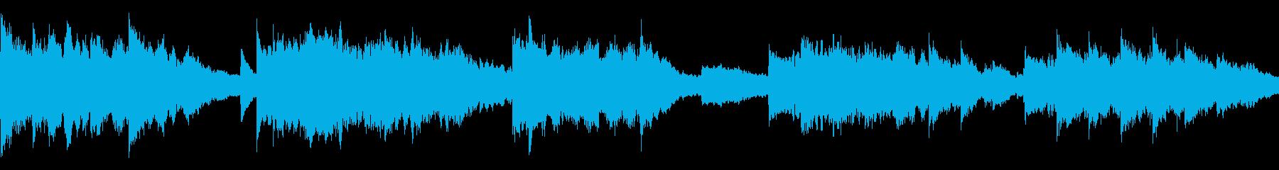 フルートが奏でる優しいメロディーの...の再生済みの波形