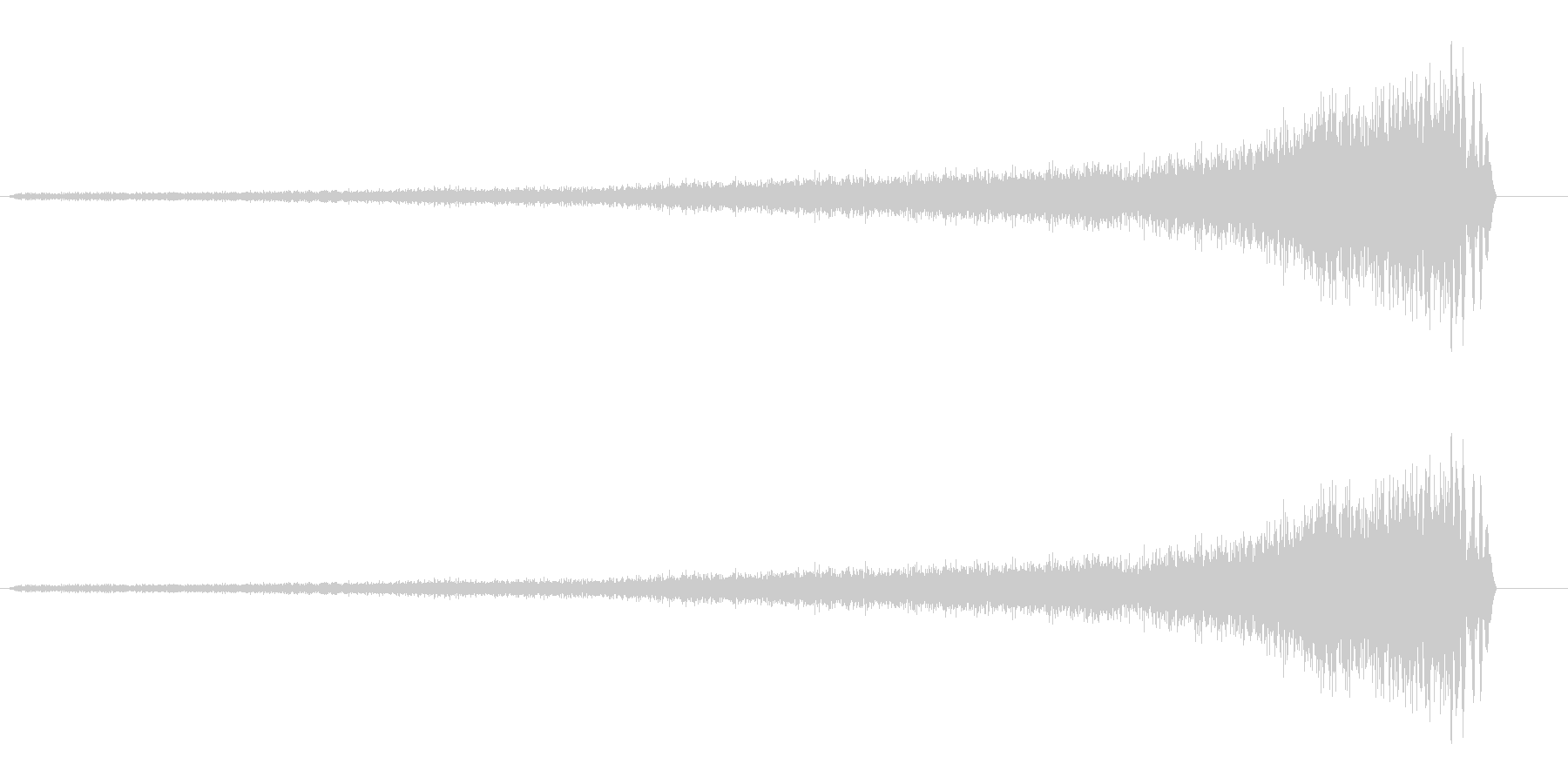 シューッ(リバースシンバル系)の未再生の波形