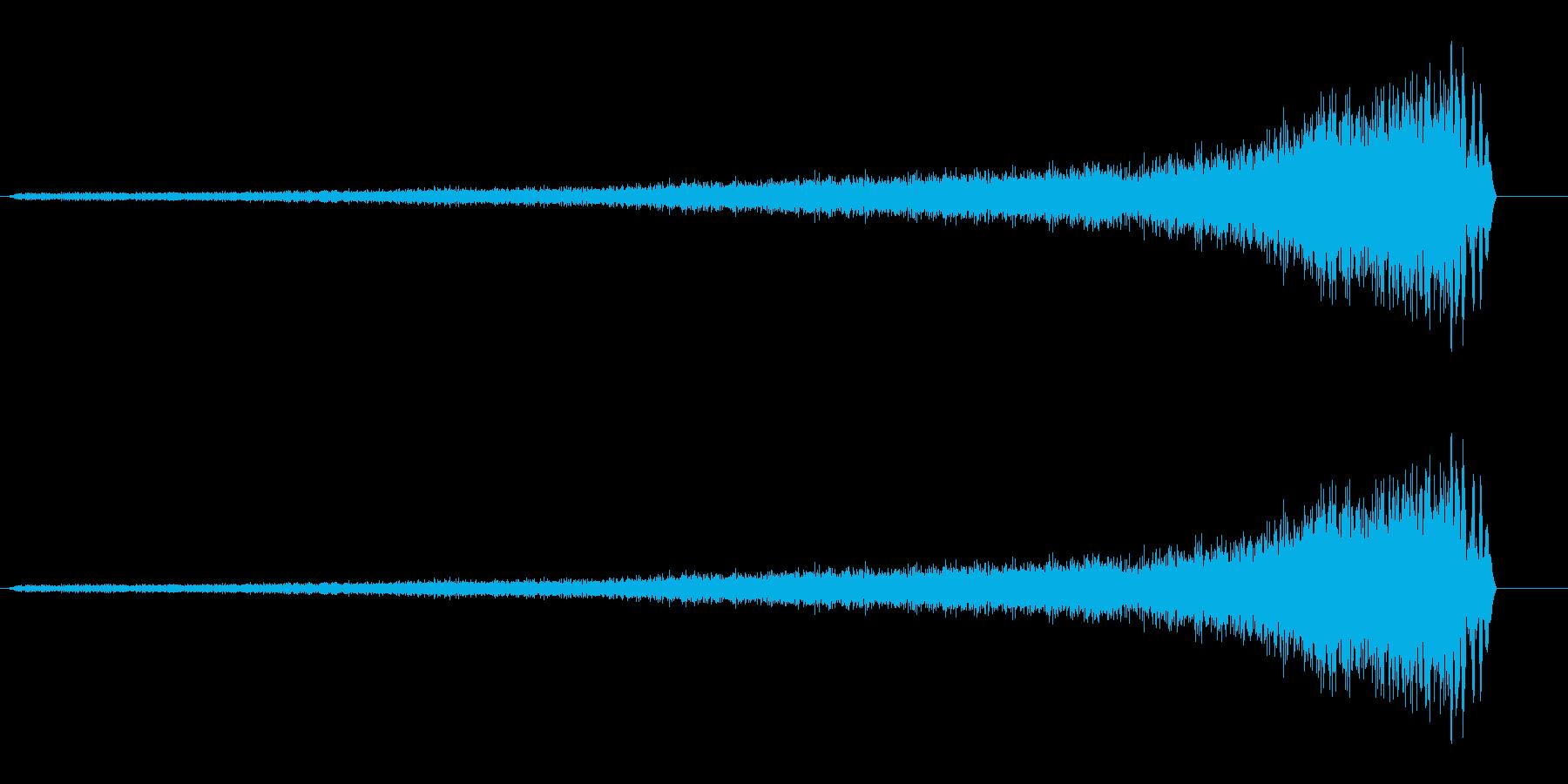 シューッ(リバースシンバル系)の再生済みの波形