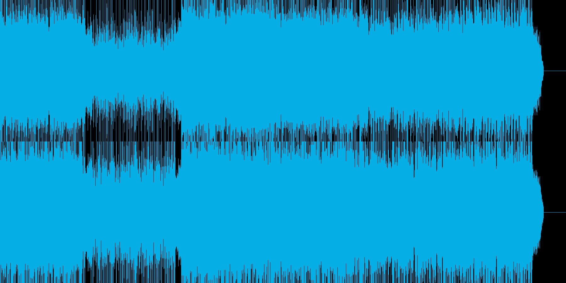 戦闘シーン用デジタルロックの再生済みの波形