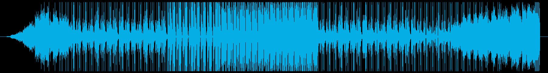 R&BのトラックをイメージしたBGMの再生済みの波形