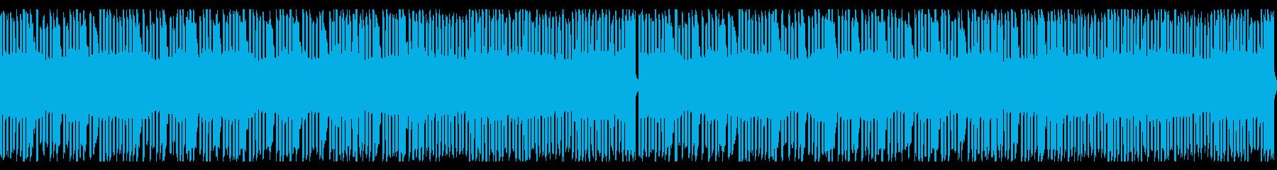 8bit風音源のループ楽曲の再生済みの波形