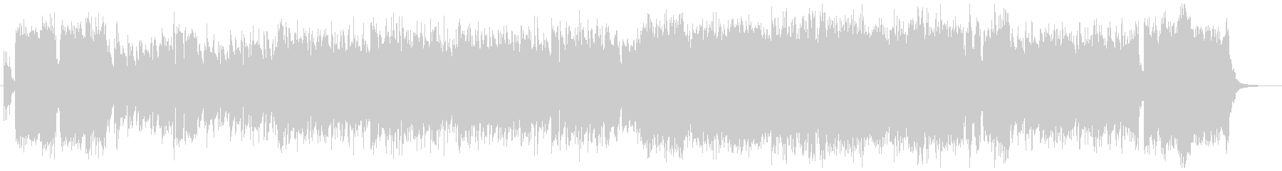 戦隊モノOPイメージ アップテンポロックの未再生の波形