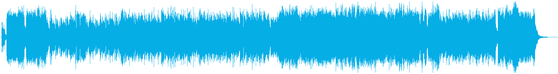 戦隊モノOPイメージ アップテンポロックの再生済みの波形