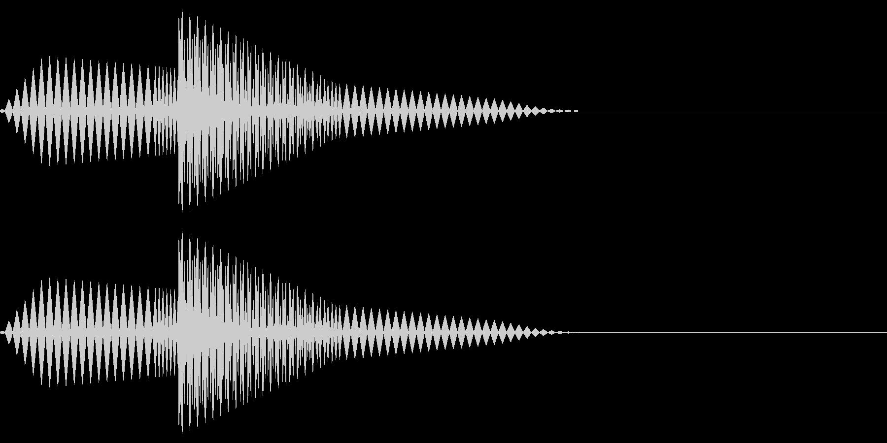 ブポ(決定/キャンセル/ピコピコの未再生の波形