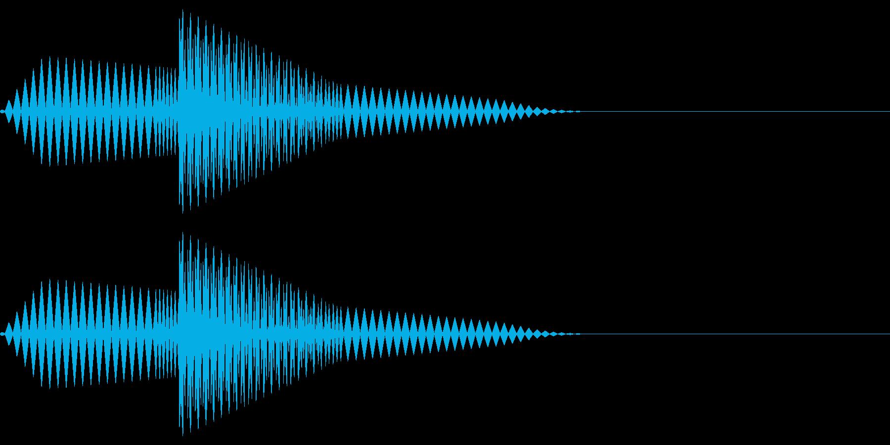 ブポ(決定/キャンセル/ピコピコの再生済みの波形