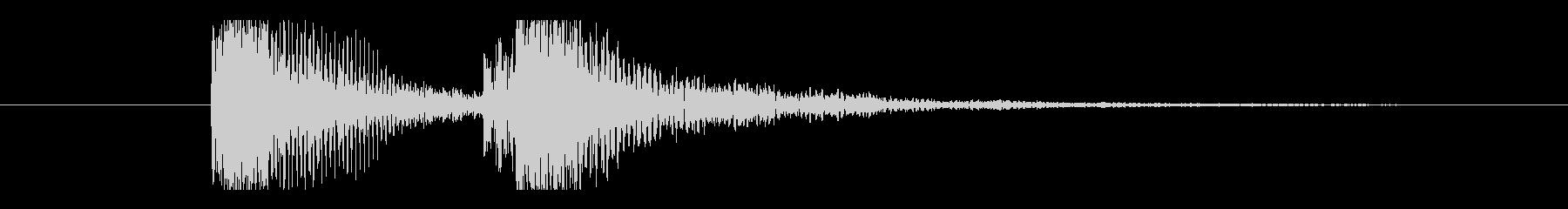 カカッ。Eギター、カッティング音の未再生の波形