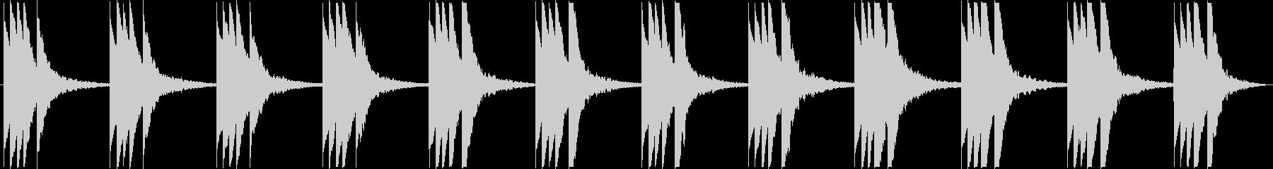 複雑な雰囲気のBGMの未再生の波形