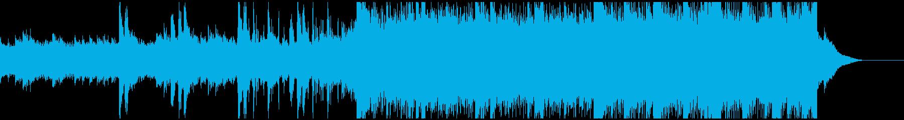 ゲーム・映像に使える恐怖感のあるBGMの再生済みの波形