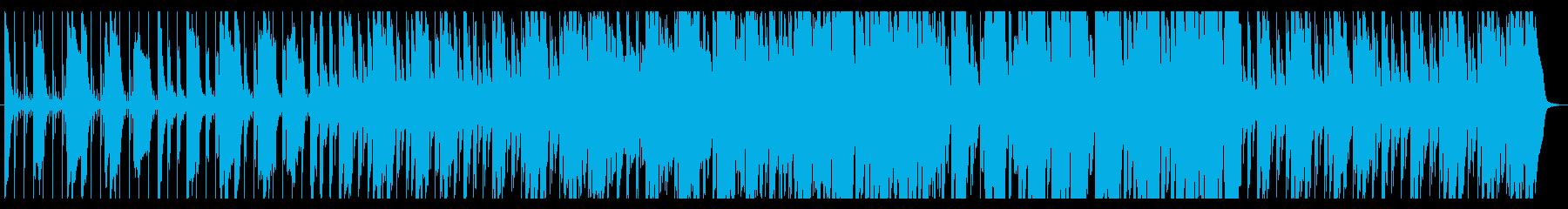 サスペンス、推理や事件、緊迫感あるBGMの再生済みの波形