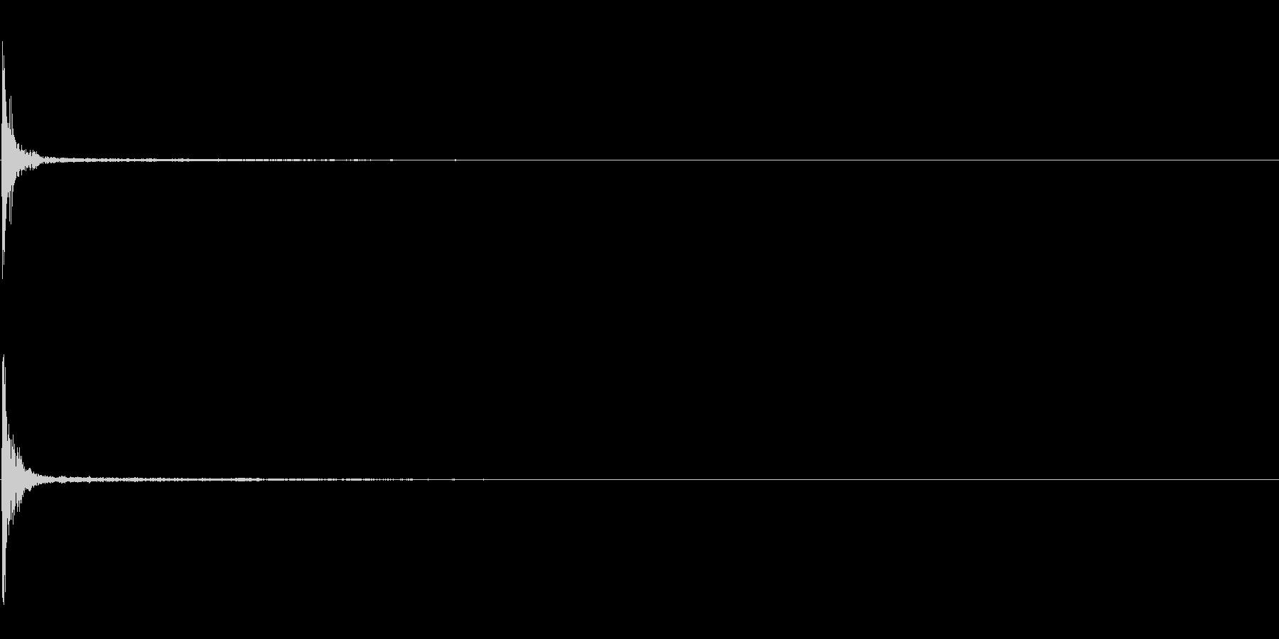 「カン」木鉦(もくしょう)の単発音+FXの未再生の波形