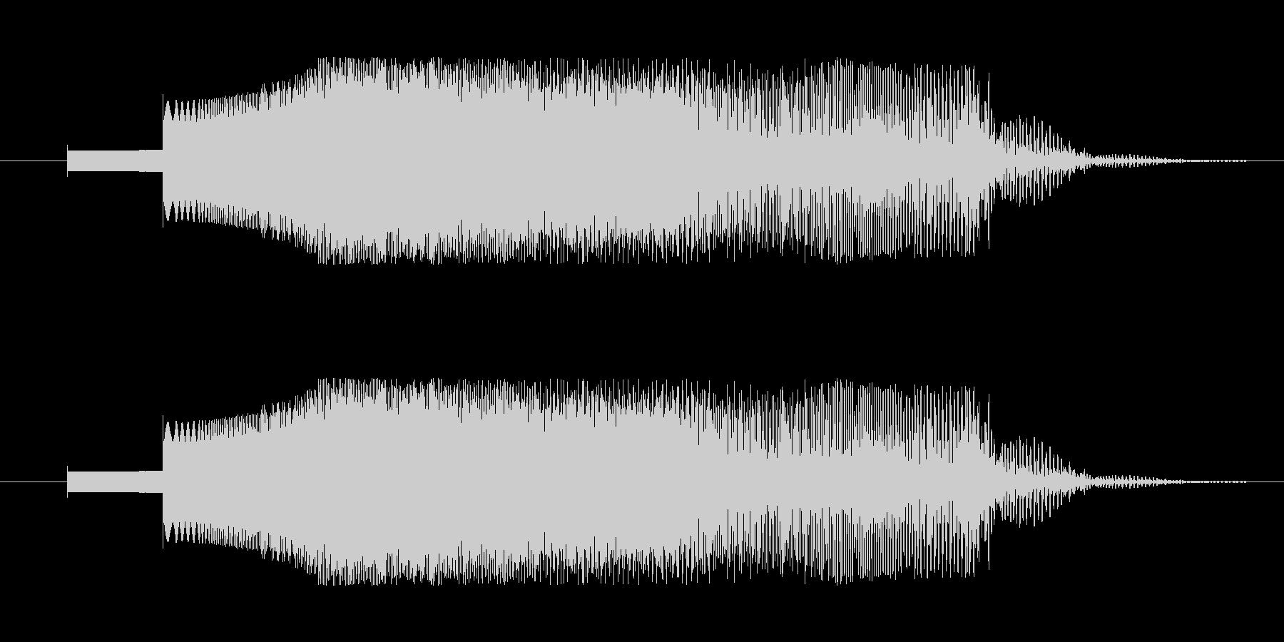 SFっぽい電子音。下降音などに。の未再生の波形