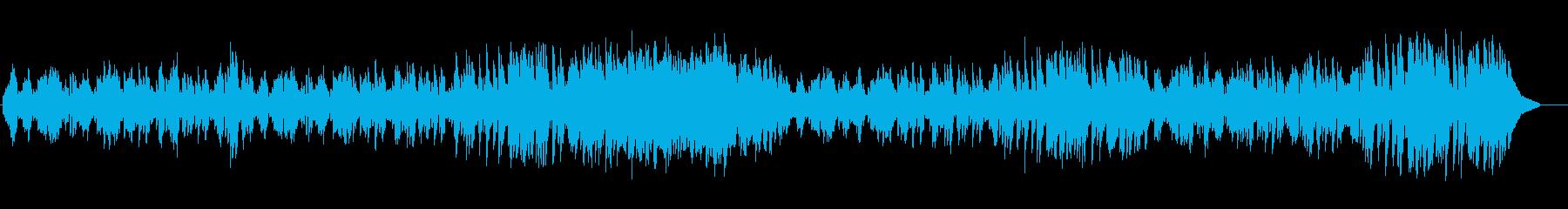 牧歌的なワルツの再生済みの波形