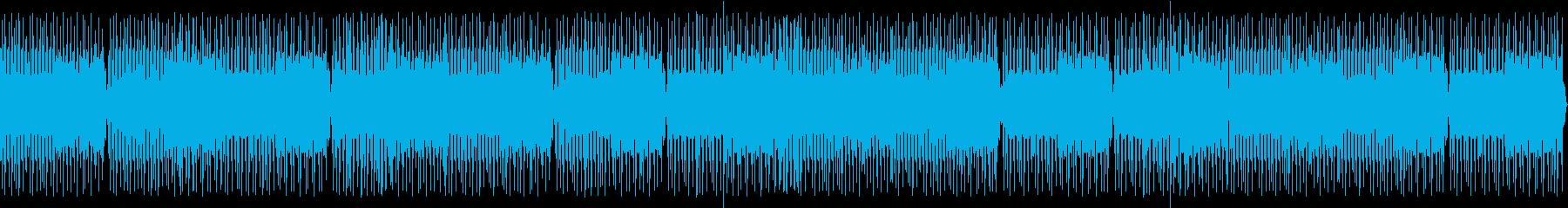 喋り動画用_サイケなハウス系ビートBGMの再生済みの波形