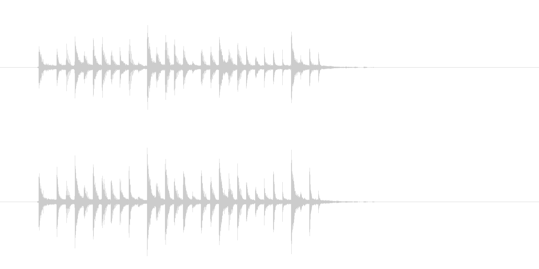 クールでかっこいいテクノのジングルの未再生の波形