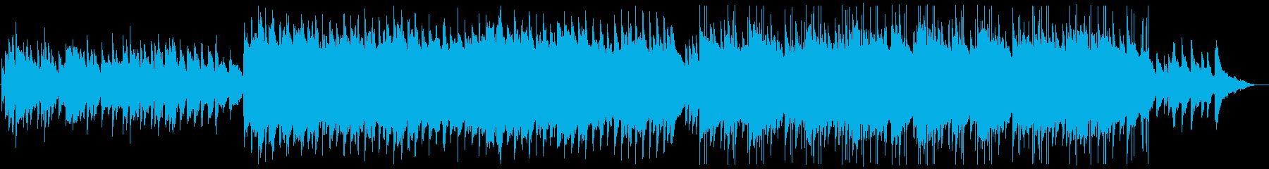センチメンタルな雰囲気のピアノ曲の再生済みの波形