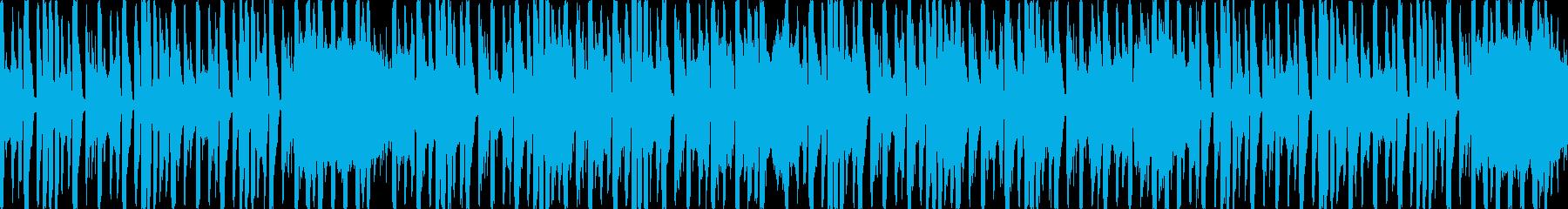 コミカルでかわいいエレクトロダンスループの再生済みの波形