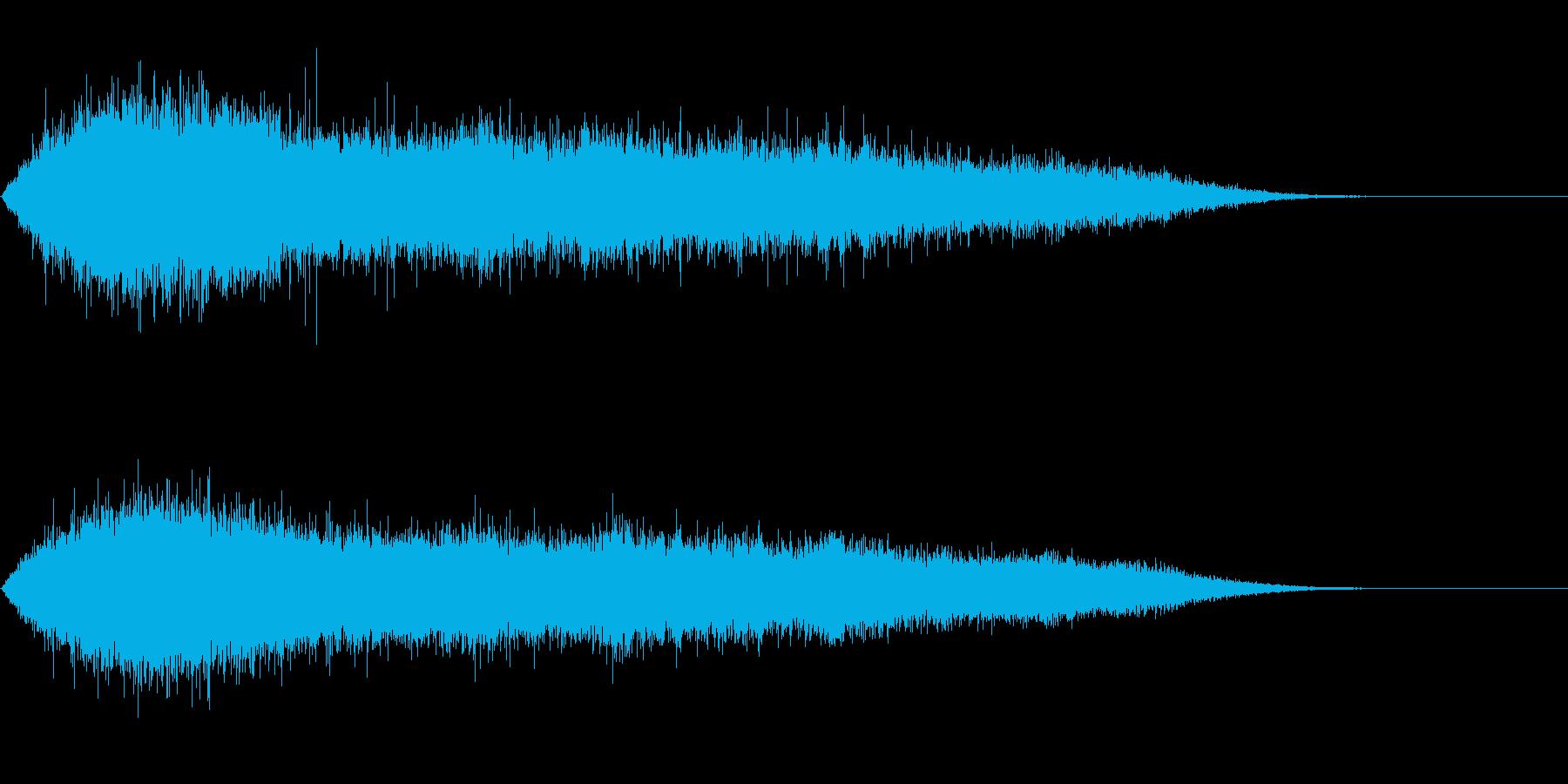 歓声5 (スタジアムなどの大歓声2)の再生済みの波形