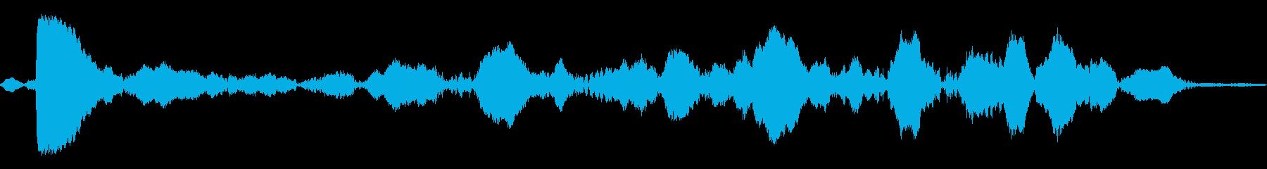 ビープ音が鳴る27の再生済みの波形