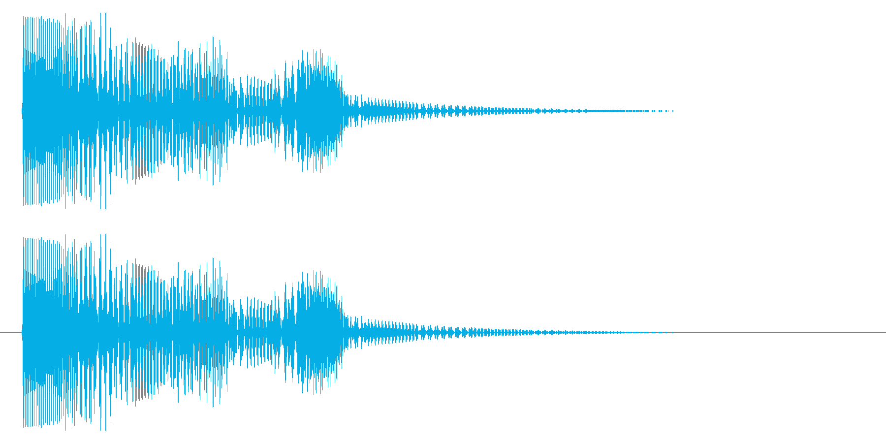 ぴょん/かわいい/決定音の再生済みの波形