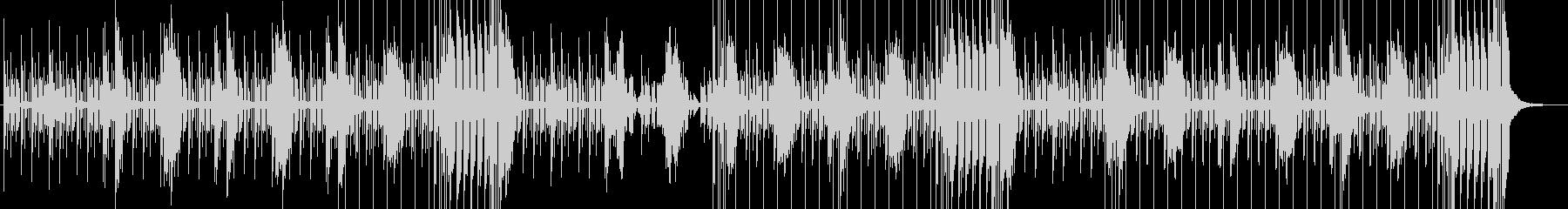 クールな製品紹介に、ヒップホップ風BGMの未再生の波形