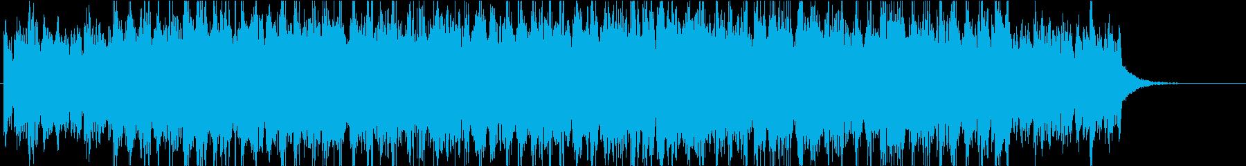 幻想的でパワフルなエレクトロジングルの再生済みの波形