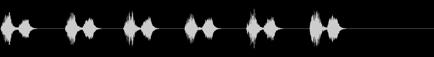 レトロゲームぽい効果音 足音1の未再生の波形
