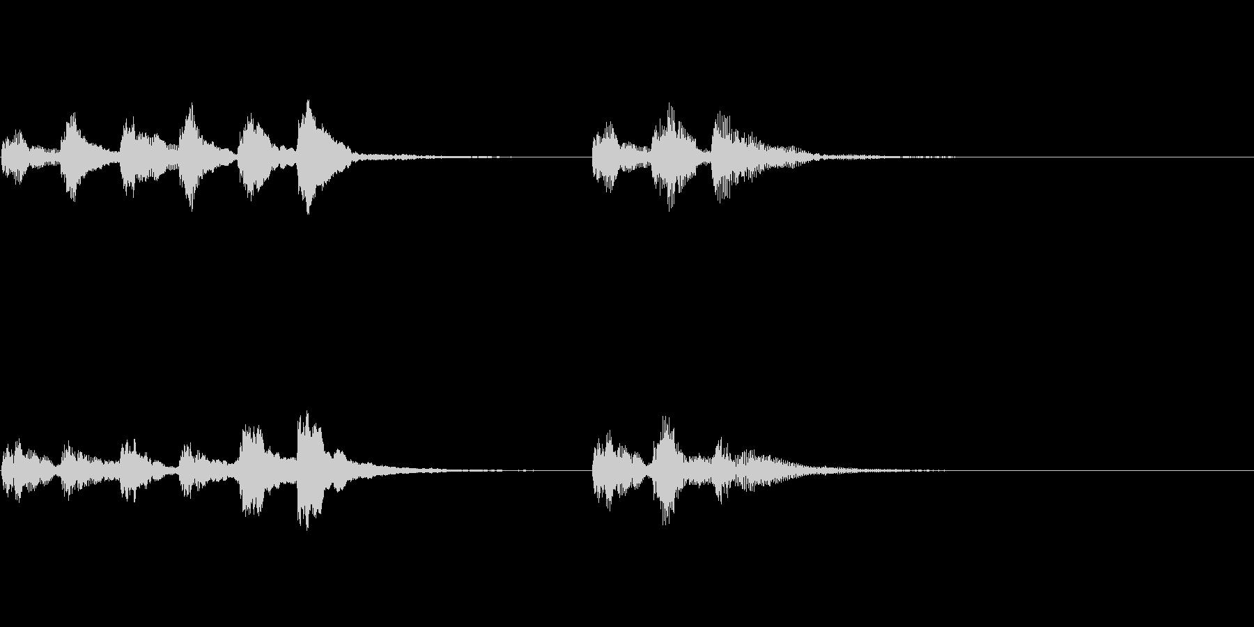 ピチカートのシンプルなジングルの未再生の波形