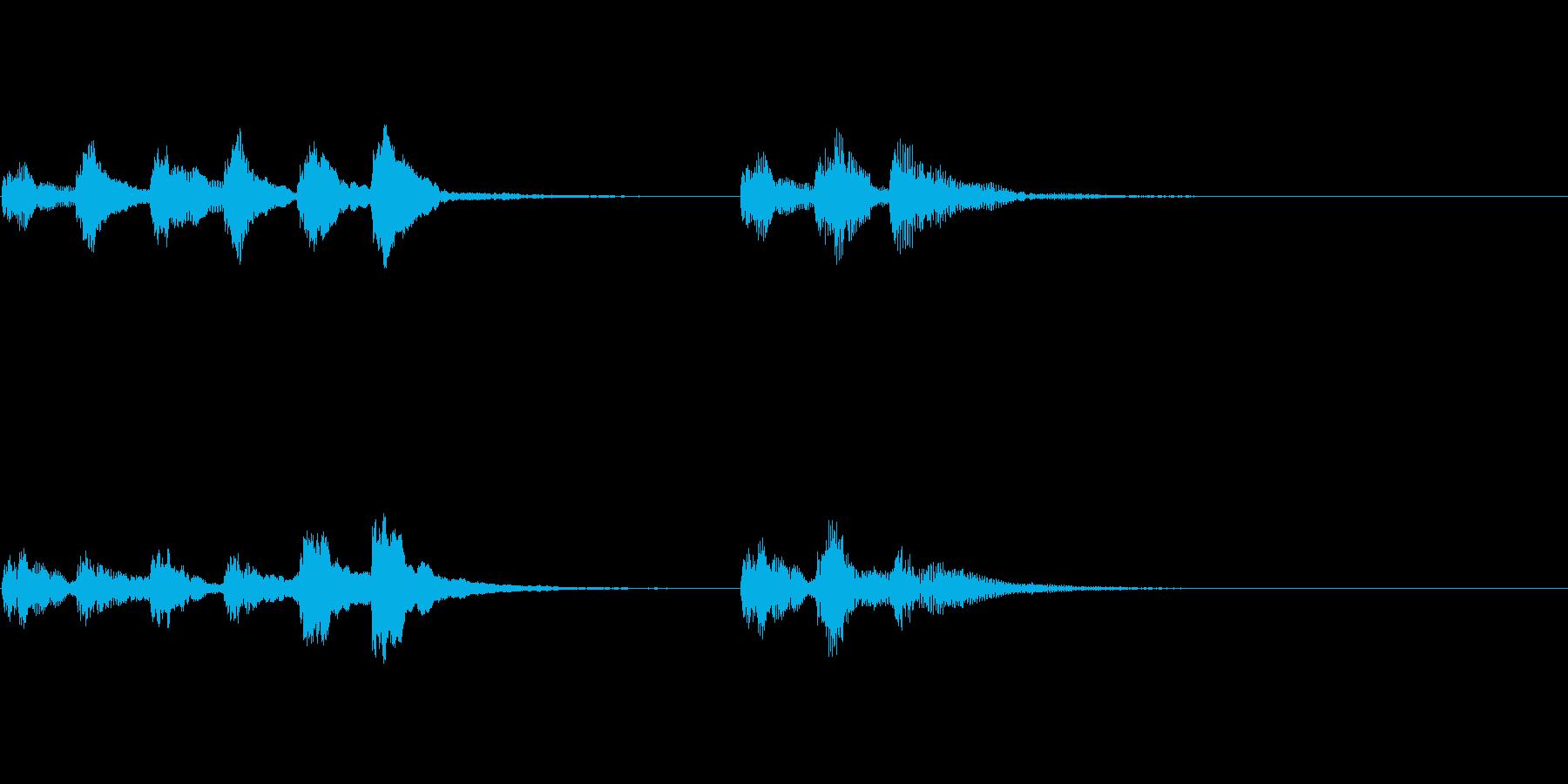 ピチカートのシンプルなジングルの再生済みの波形