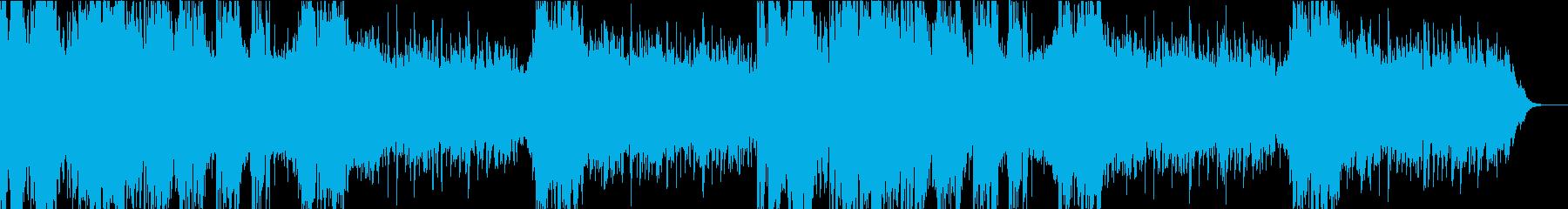 シンセサイザーとパーカッションを使った緊の再生済みの波形