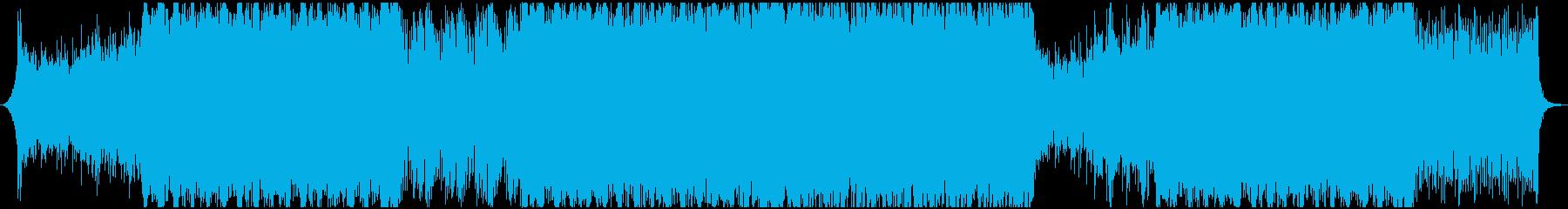 戦闘 シネマティックなロックサウンドの再生済みの波形