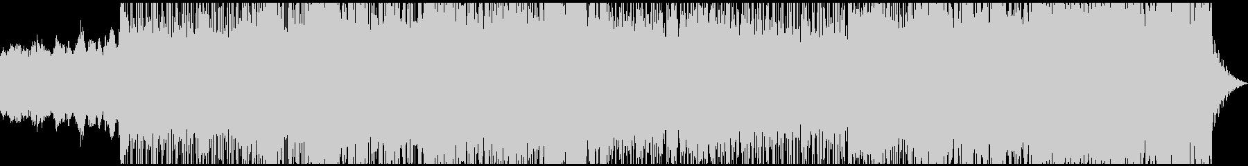ミッドテンポの未来的なシンセサウンドの未再生の波形