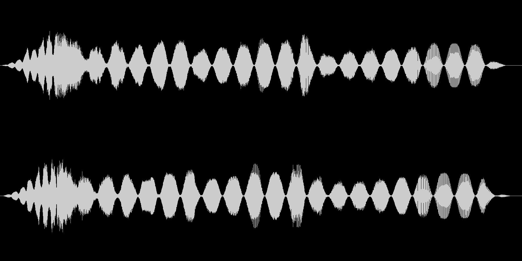 スペースレースの解消の解決の未再生の波形