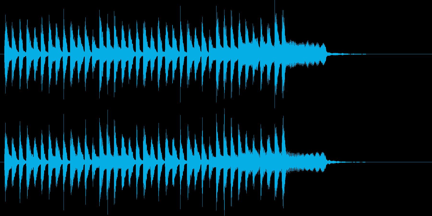 和楽器のほのぼのしたメロディの和風ポップの再生済みの波形