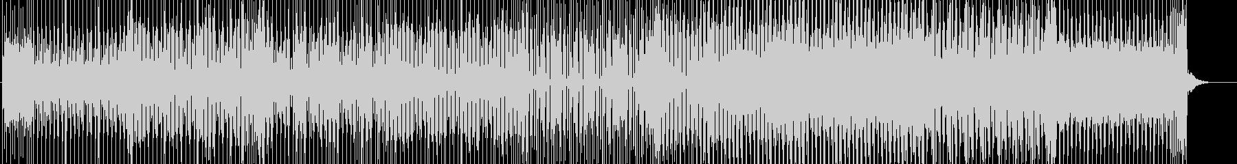 迷宮で戸惑う無機質な感じのテクノ曲の未再生の波形