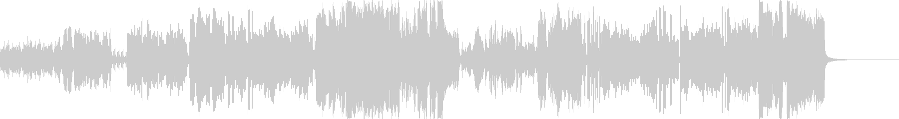サックスが洒落てリズミカルなジャズ風の未再生の波形