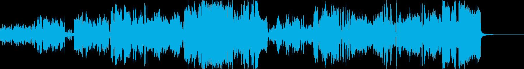 サックスが洒落てリズミカルなジャズ風の再生済みの波形