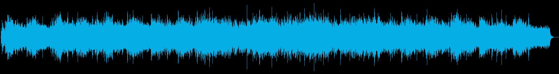 水っぽいエレピとシンセのBGMの再生済みの波形